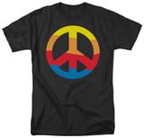Rainbow Peace Sign T-shirts