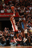 Orlando Magic v Miami Heat, Miami, FL - March 3: Chris Bosh and Brandon Bass Photographic Print by Victor Baldizon