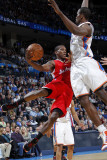 Los Angeles Clippers v Oklahoma City Thunder, Oklahoma City, OK - February 22: Eric Bledose and Ser Photographic Print by Layne Murdoch