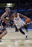 Indiana Pacers v Oklahoma City Thunder, Oklahoma City, OK - March 2 : Kevin Durant and Dahntay Jone Photographic Print by Layne Murdoch