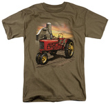Tractor In Front Of Barn T-Shirt