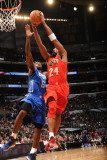 2011 NBA All Star Game, Los Angeles, CA - February 20: Kobe Bryant and LeBron James Photographic Print by Andrew Bernstein