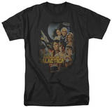 Battle Star Galactica-Distressed Poster T-shirts