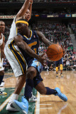 Denver Nuggets v Utah Jazz, Salt Lake City, UT - March 3: Ty Lawson and Devin Harris Photographic Print by Melissa Majchrzak