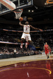 Houston Rockets v Cleveland Cavaliers, Cleveland, Oh - February 23: Christian Eyenga and Kevin Mart Photographic Print by David Liam Kyle