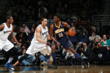 Indiana Pacers v Washington Wizards, Washington, D.C. - February 22: Roy Hibbert and JaVale McGee Photographic Print by Ned Dishman
