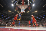 2011 NBA All Star Game, Los Angeles, CA - February 20: Derrick Rose, Carmelo Anthony and Kevin Love Photographic Print by Andrew Bernstein