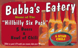 Hillbilly Six Pack Tin Sign