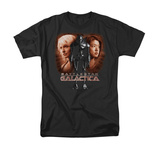 Battle Star Galactica-Created By Man T-Shirts