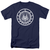 Battle Star Galactica-Scratched BSG Logo Shirts