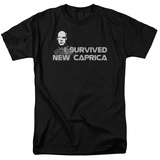 Battle Star Galactica-I Survived New Caprica T-shirts