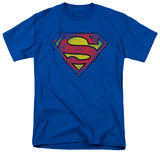 Superman-Destroyed Supes Logo Shirt