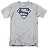 Superman-Navy & White Shield Shirt