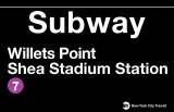 New York- Shea Stadium Metal Sign Plaque en métal