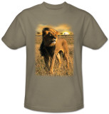 Wildlife-Sunset Lion T-Shirt