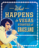 Elvis Happens in Vegas Cartel de chapa