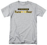 Runs With Beer T-Shirt
