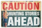 Hunting Stories Cartel de chapa