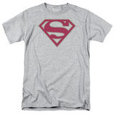 Superman-Crimson & Gray Shield T-Shirt