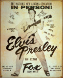 Elvis at the Fox Tin Sign