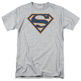 Superman-Navy & Orange Shield T-Shirt