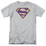 Superman-Purple & Gold Shield Shirt