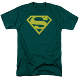 Superman-Yellow & Green Shield T-Shirt