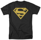 Superman-Gold & Black Shield Shirts