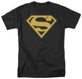 Superman-Gold & Black Shield Shirts