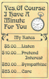 Have a Minute Tin Sign