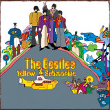 The Beatles- Yellow Submarine Cartel de chapa