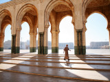Man Walking Through Hassan Ii Mosque Complex Photographic Print by Feargus Cooney