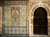 Mosaics and the Entrance Door to Gurgi Mosque in the Old City Photographic Print by Frans Lemmens