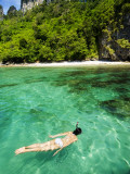 Woman Snorkelling at Maya Bay Photographic Print by Felix Hug