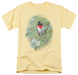 Wildlife - Grosbeak And Apple Blossoms T-Shirt