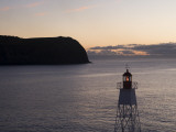 Lighthouse on Horta Jetty at Dawn Photographic Print by Holger Leue