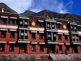 Tibetan Style Building in Labrang Monastery (Labuleng Si) Photographic Print by Krzysztof Dydynski