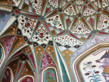Detail of Paintings on Ceiling at Amber Fort Photographic Print by Kimberley Coole