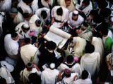 Priestly Blessing Ceremony by the Western Wall at Succot Photographic Print by Hanan Isachar