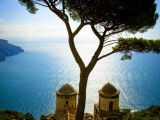 Glenn Beanland - View from the 13th Century Villa Rufolo in Ravello, Amalfi Coast Fotografická reprodukce