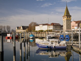 Small Harbour with Mang Tower (Right), by Bodensee (Lake Constance) Photographic Print by Glenn Van Der Knijff