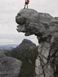 Bushwalker Atop Quartzite Outcrop in Frankland Range Photographic Print by Grant Dixon