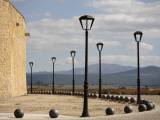 City Walls with Streetlamps and View Towards Portugal Photographic Print by David Borland