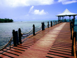Jetty on Mahebourg Waterfront Photographic Print by Olivier Cirendini