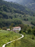 Farmhouse and Countryside Near Besalu Photographic Print by Dennis Johnson