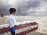 Young Surfer at Meron Beach Photographic Print by Diego Lezama