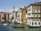 Gondolas and Other Watercraft on Grand Canal Photographic Print by Christopher Groenhout