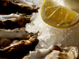 Fresh Oysters on the Half Shell at Bayswater Brasserie, Kings Cross Photographic Print by Holger Leue
