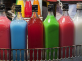 Colourful Juice Bottles, Chowpatty Beach Photographic Print by Christer Fredriksson