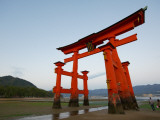 Torii at Low Tide, Itsukushima Shine Photographic Print by Damien Douxchamps